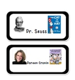 Author Study Labels Class Library Labels Book Labels