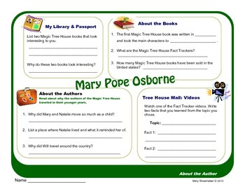 Author Study ~ Internet Research ~ Mary Pope Osborne