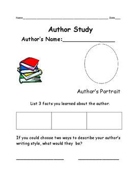Author Study Organizer