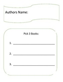 Author Study Packet