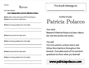 Author Study - Patricia Polacco