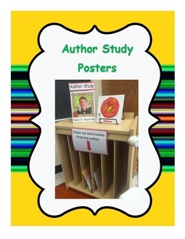 Free Author Study Posters