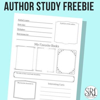 Author Study Printable Freebie for Elementary
