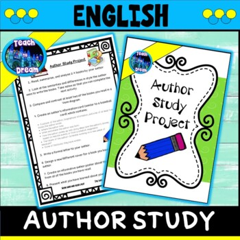 Author Study Project Lessons