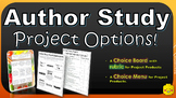 Author Study Project Menu, Choice Board, & Rubric!