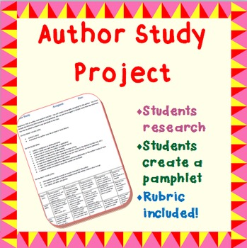 Author Study Project - Middle/Secondary