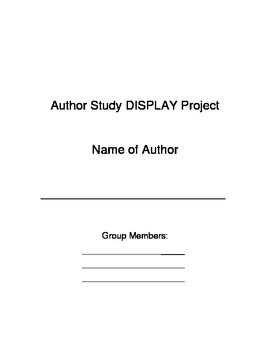 Author Study Research Project Unit Plan