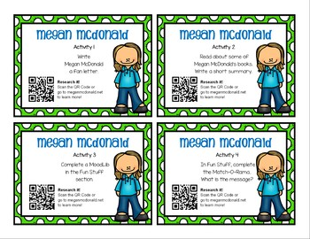 Author Study Research Task Cards