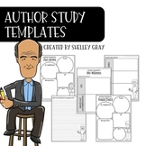 Author Study Research Templates: Research Organizers and Posters