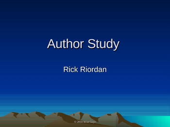 Author Study Rick Riordan Lightning Thief, 39 Clues and more