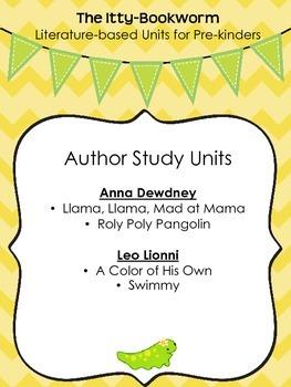 Author Study Units ~ Anna Dewdney and Leo Lionni