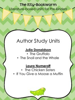 Author Study Units ~ Laura Numeroff and Julia Donaldson