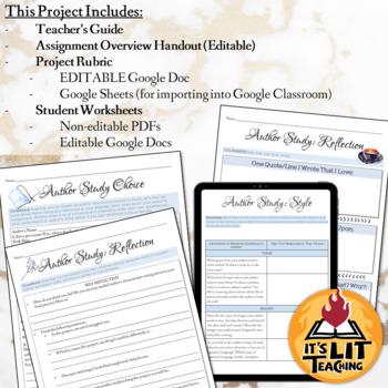 Author Study Writing Project (Study, Analyze, and Replicate Any Author's Style!)