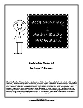 Author Study and Book Summary