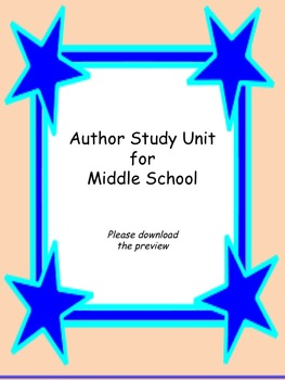 Author Study for Middle School