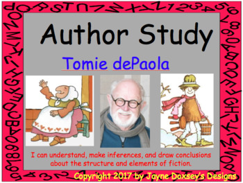 Author Study of Tomie dePaola