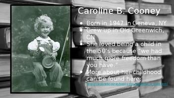 Author Study or Author Intro to Caroline B Cooney