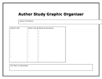 Author Study with Graphic Organizer