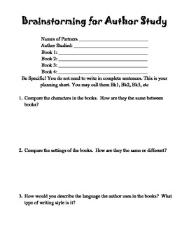 Author Study with Independent and Group Activities for Upper Elementary