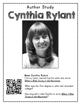 Author Study with QR Codes - Cynthia Rylant