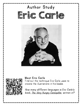 Author Study with QR Codes - Eric Carle