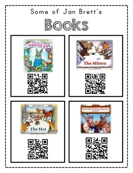 Author Study with QR Codes - Jan Brett