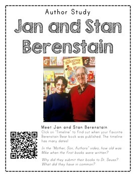 Author Study with QR Codes - Jan and Stan Berenstain