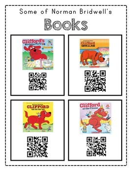 Author Study with QR Codes - Norman  Bridwell