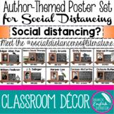 Author Poster Set Encourage Social Distancing English Clas