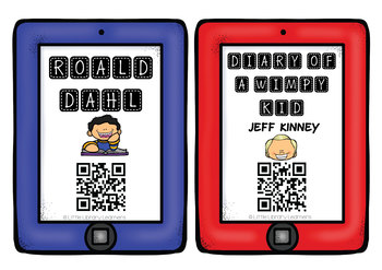 QR Code Cards- Author and Series Websites