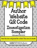 Author Website QR Code Investigation Sampler