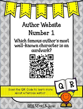 Author Website QR Code Investigation Sampler