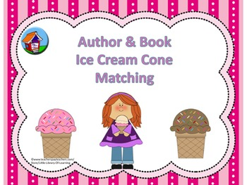 Author and Book Ice Cream Cone Match
