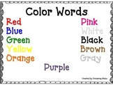 Color Words Anchor Chart
