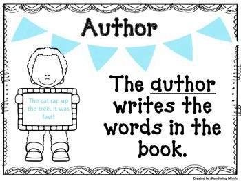 Author and Illustrator Anchor Charts