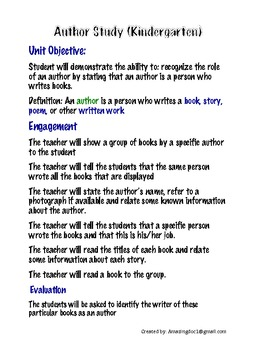 Author and Illustrator Lesson Plan and Posters