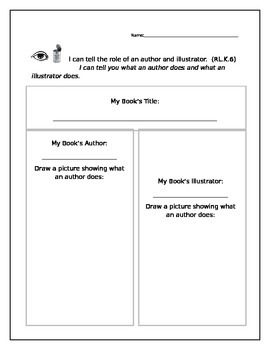 Author and Illustrator's roles