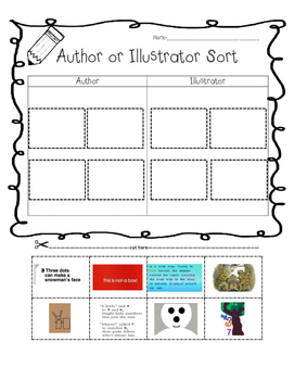 Author and Illustrator sort