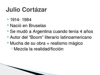Author info Julio Cortázar Encuentros Maravillosos chapter 3 ( spanish )