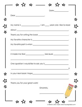Author letter template by lovelibraries teachers pay teachers author letter template maxwellsz