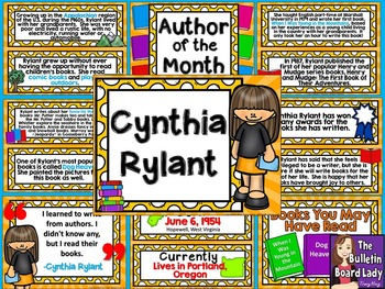 Author of the Month Cynthia Rylant