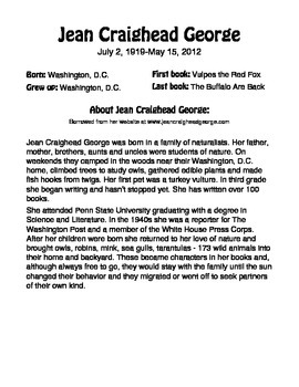Author of the Month: Jean Craighead George