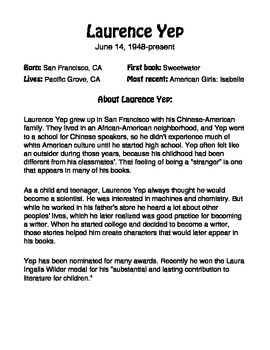 Author of the Month: Laurence Yep