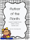 Author of the Month Poster Set and Recording Sheet- Growing Product