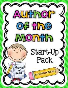 Author of the Month Start-Up Pack {CCSS Aligned}