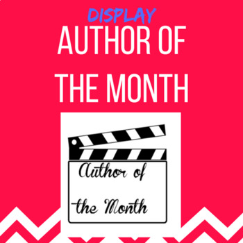 Author of the Months display
