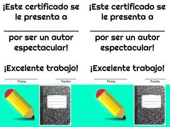 Author's Certificate - SPANISH