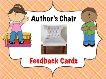 Author's Chair Feedback Cards