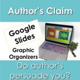 Author's Claim Graphic Organizers