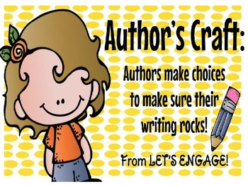 Author's Craft:Authors Make Choices to Make Sure Their Writing Rocks! PowerPoint